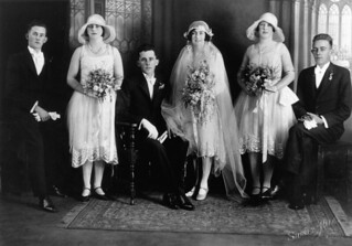 Wedding of Drew and Marie Drynan at St. Stephens Cathedral, Brisbane, 14 August 1929