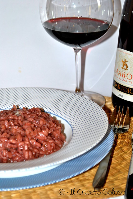 Risotto all'amarone e occelli al barolo (1)