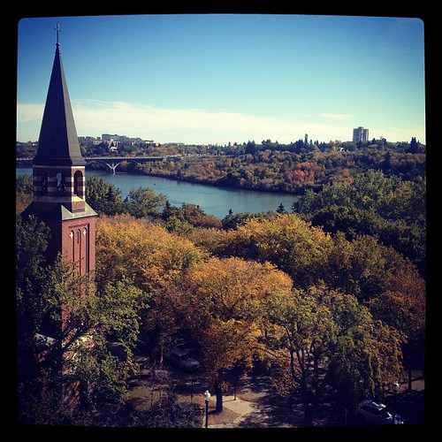 Fall in full color in Sunny Saskatoon.