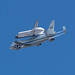 Shuttle Endeavour over Caltech