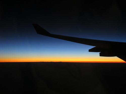 Sonnenaufgang über Zambia