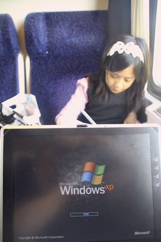 windows xp, watch movie train travel