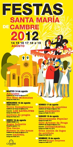 Cambre 2012 - Festas patronais - cartel