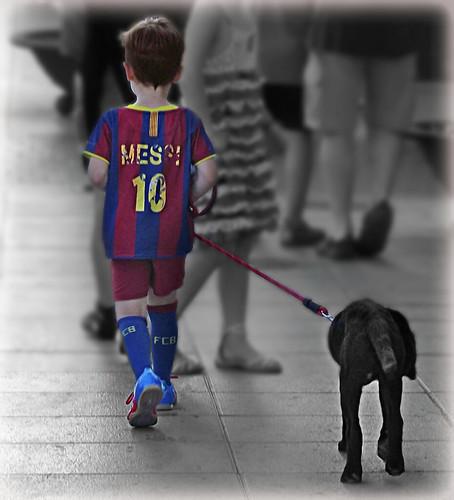 El paseo de Messi por Cambrils