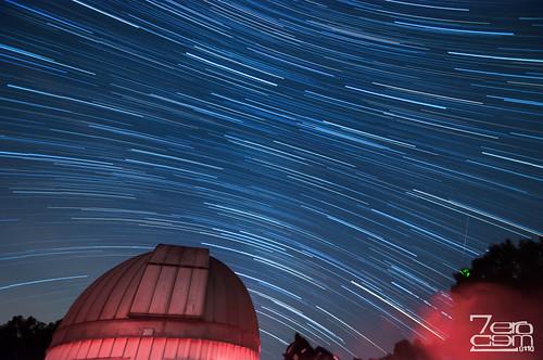 usa night stars texas houston observatory astronomy nightsky lighttrails meteor 2012 startrails brazosbend brazosbendstatepark georgeobservatory meteorshower perseid starstax