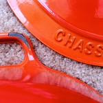 Chasseur Enameled Cast Iron Dutch Oven Chip