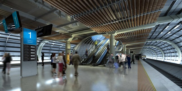 Melbourne Metro tunnel station artists impression