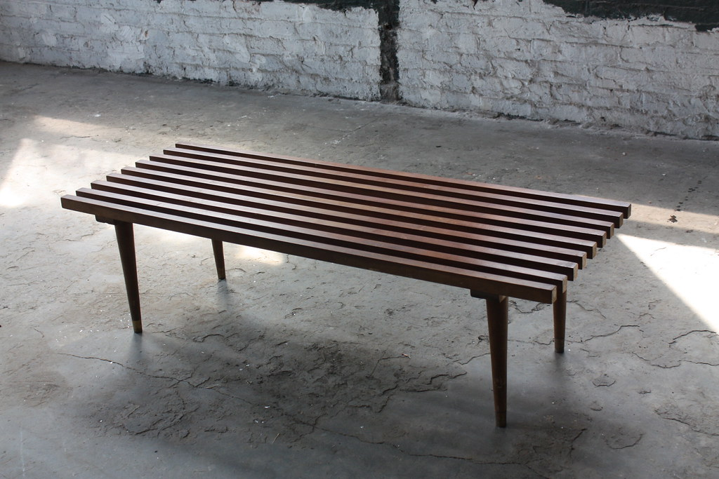 Exceptional Iconic Mid Century Modern Slat Bench/Coffee Table (3)   (U.S.A.