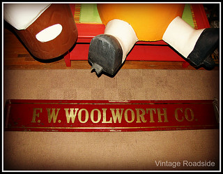 Glass F.W. Woolworth sign