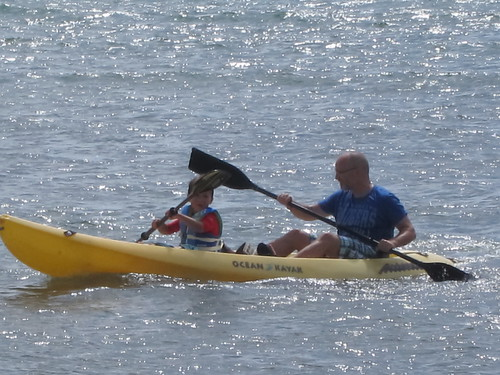 Finn and Papa kayak