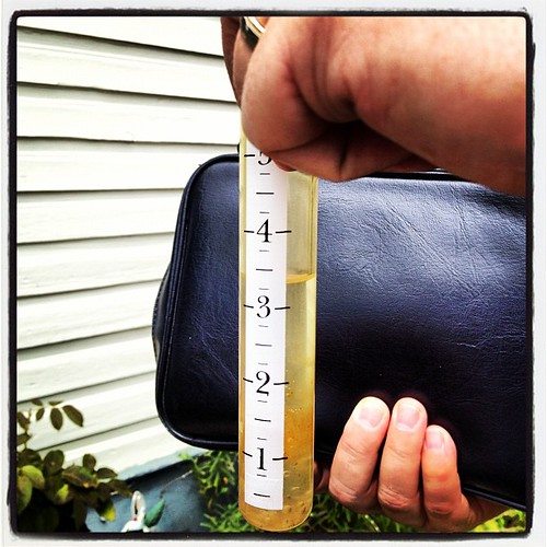 We got a great amount of rain from the storm.