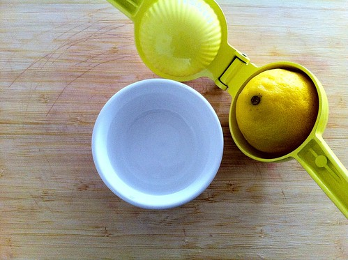1/2 Lemon in Juicer