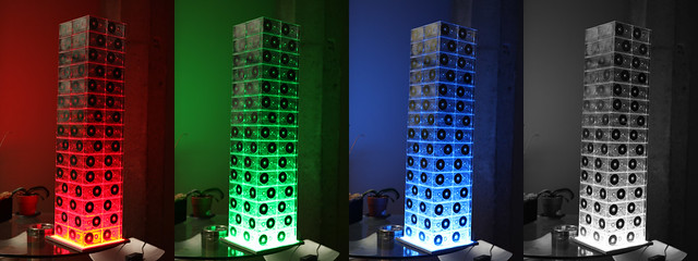 Cassette Tape Tower + RGB LED Panel Lighting