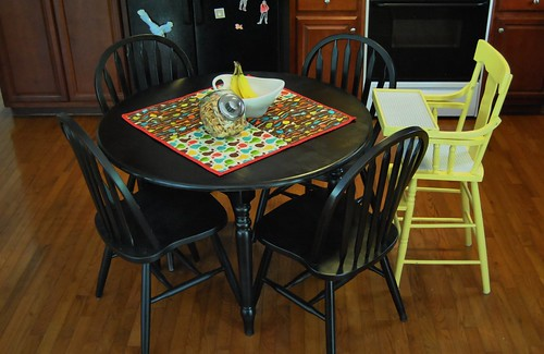 re-done kitchen table