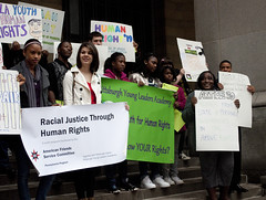 Pittsburgh—Each year, high school students implement a project to create change in their community as part of their exploration of racial inequality and human rights. In 2011, they successfully petitioned Pittsburgh to declare itself a Human Rights City.