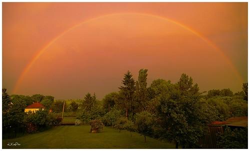 light sunset evening licht rainbow hungary sonnenuntergang sundown pentax arcobaleno ungarn istds balaton regenbogen arcenciel zala abends pacsa elkaypics szentpeterur