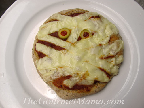 Make a Mummy Pizza for Halloween