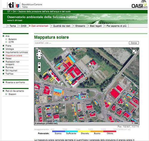 Mappatura solare - Lugano 24.08.2012