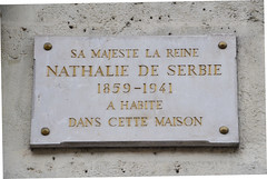 Photo of Natalie of Serbia grey plaque
