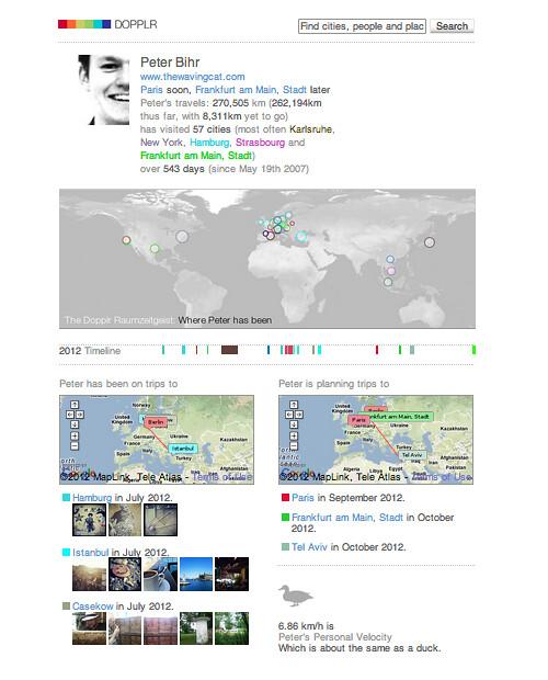 dopplr profile