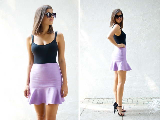 DIY flared fluted hem skirt