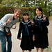 Dan with Japanese School Kids - Takayama, Japan