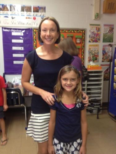 Karli and her 3rd grade teacher