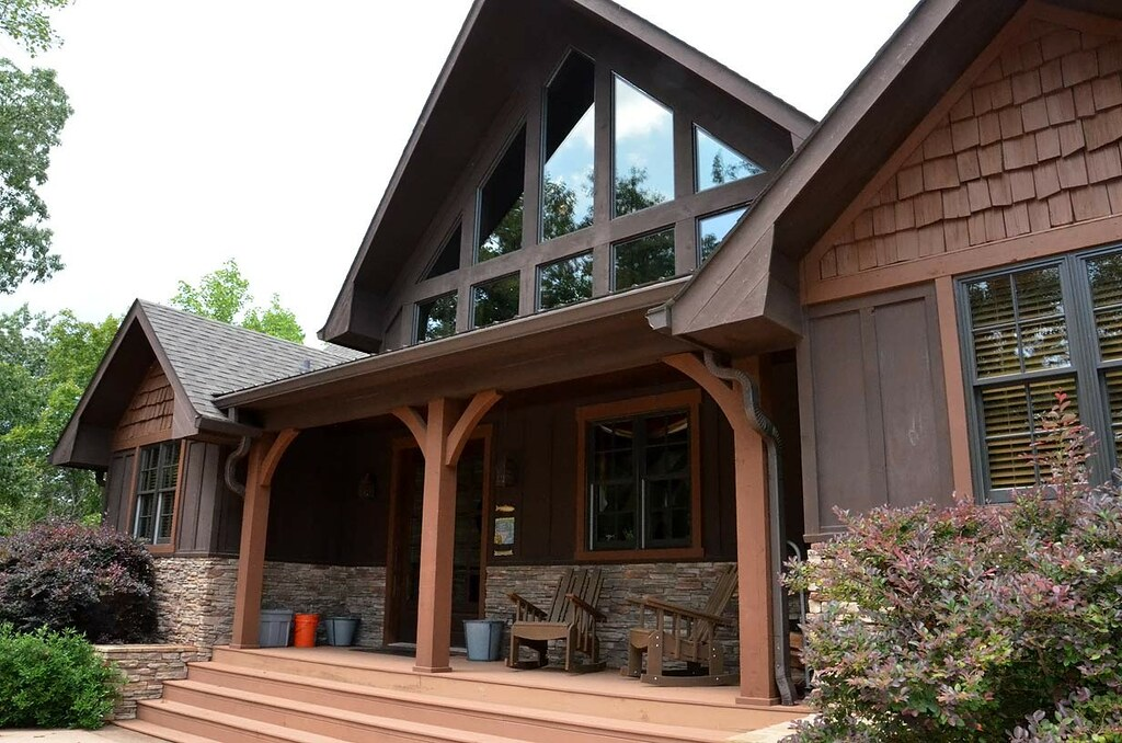 Houzz appalachia mountain front porch view on flickr for A frame mountain house plans
