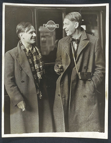W. H. Auden and Christopher Isherwood en route to China, 1938.