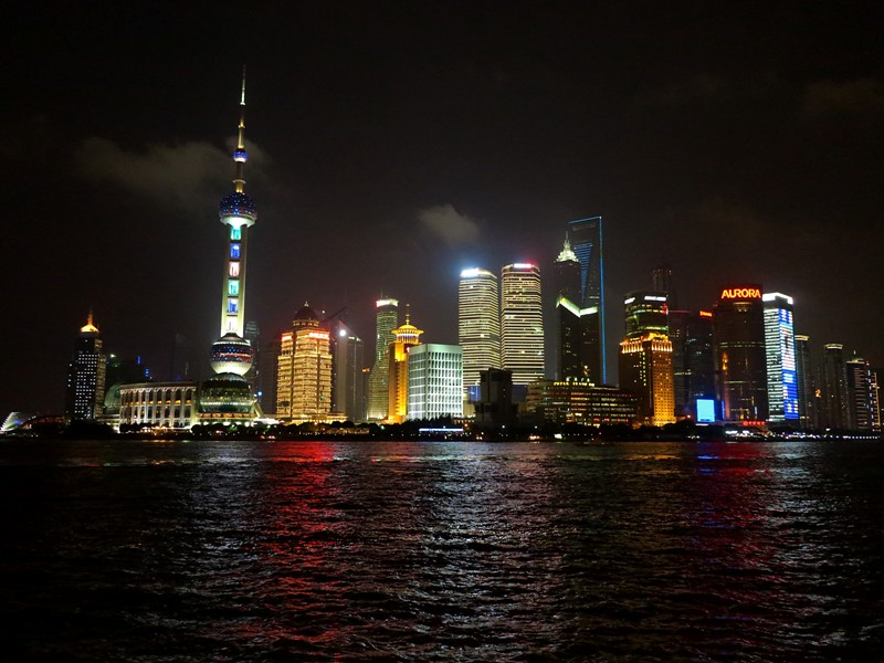 Gratte ciels de Pudong by Night@Shanghai