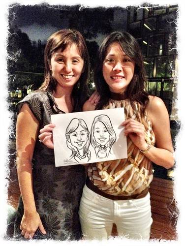 caricatrue live sketching for a birthday party
