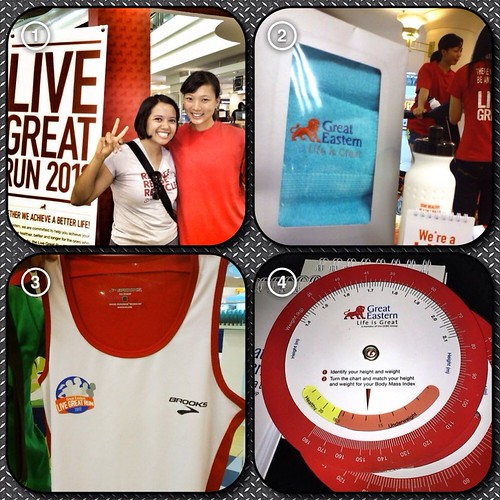 At the Live Great Eastern Run booth, 1Utama Mall
