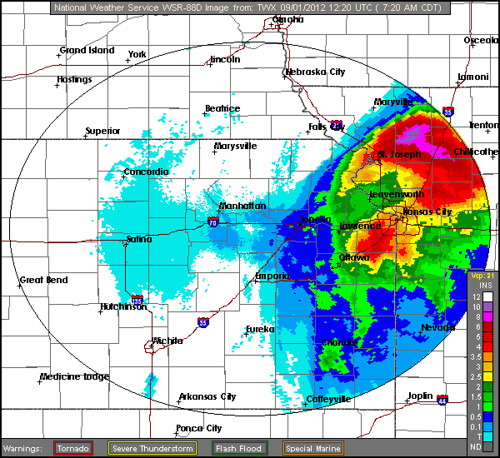 Topeka Radar Rain Isaac
