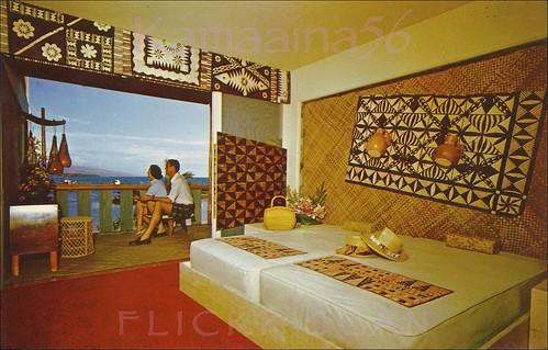 hawaii hotel interior postcard 1950s bigisland