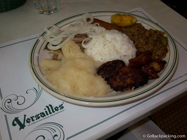 Classic Cuban food at Versailles