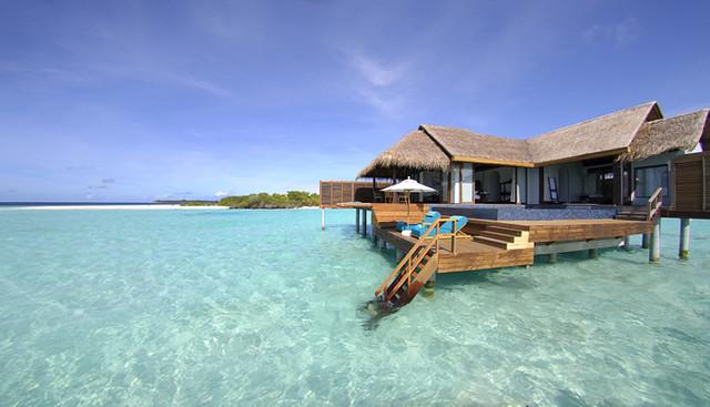 Overwater Bungalows at Anantara Kihavah Villas, Maldives