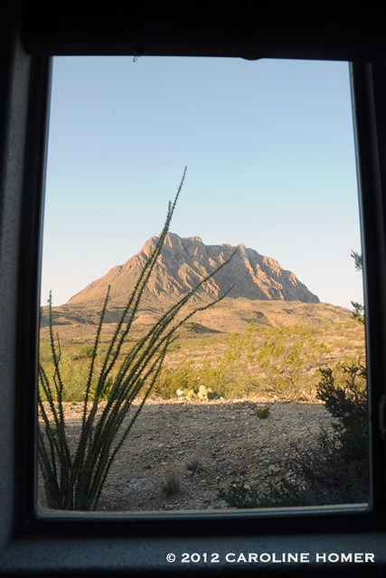 View from bedroom window, Terlingua, TX