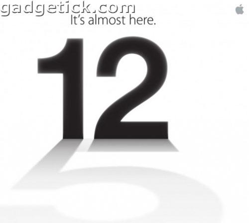 12 сентрября презентация iPhone 5