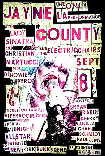 09-08-12 Jayne County/ Lady Sinatra/ Christian Martucci/ DJ Howie Pyro @ The Viper Room, Los Angeles, CA