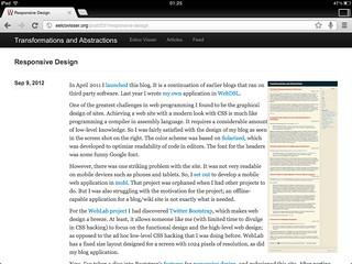 Responsive Design iPad Landscape