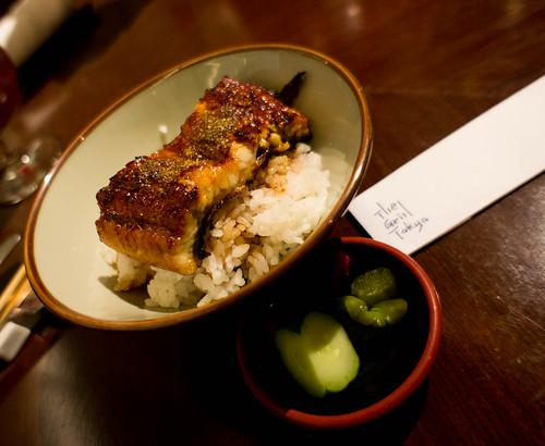 Japanese's Rice bowl of teriyaki grilled eel