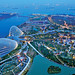 Aerial View of Gardens by the Bay from SkyPark, Marina Bay Sands...