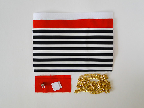02 Striped Crossbody Clutch Tutorial by Fabric Paper Glue