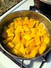butternut in pan