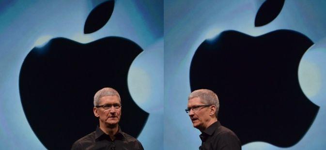 И он на фоне яблока опять