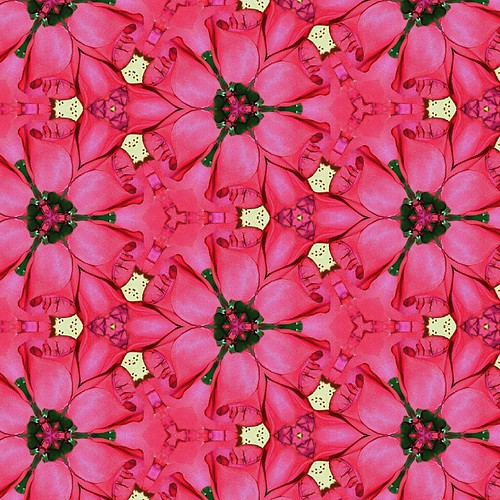 Six Sided Rose Blossom Tessellation-Square