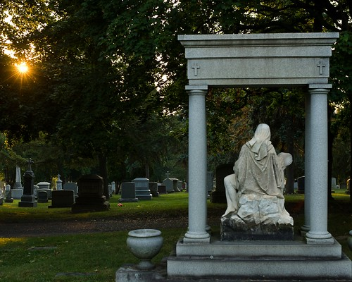 St. Anges Cemetery Sunrise, Menands, N.Y.