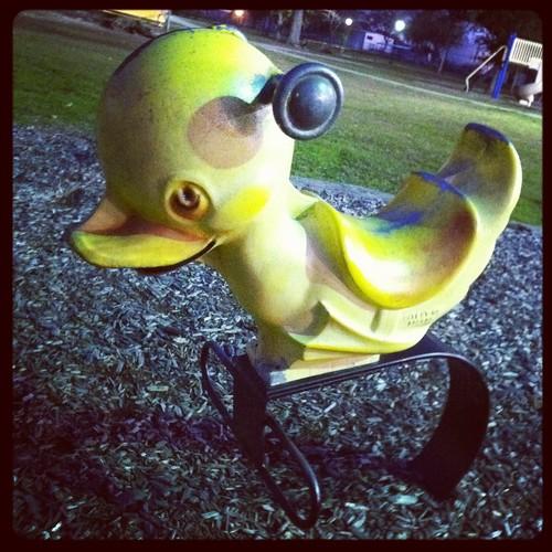 Vintage playground duck, Deer Park, Texas