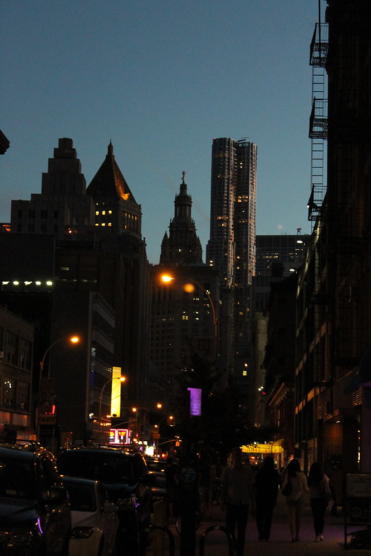 Downtown on Centre Street, Night Falls