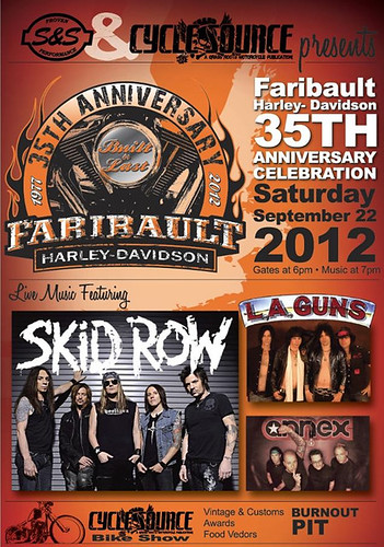 09/22/12 Skid Row/ LA Guns @ Faribault, MN